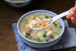 菌菇虾仁豆腐汤的做法,营养十足鲜美无比!