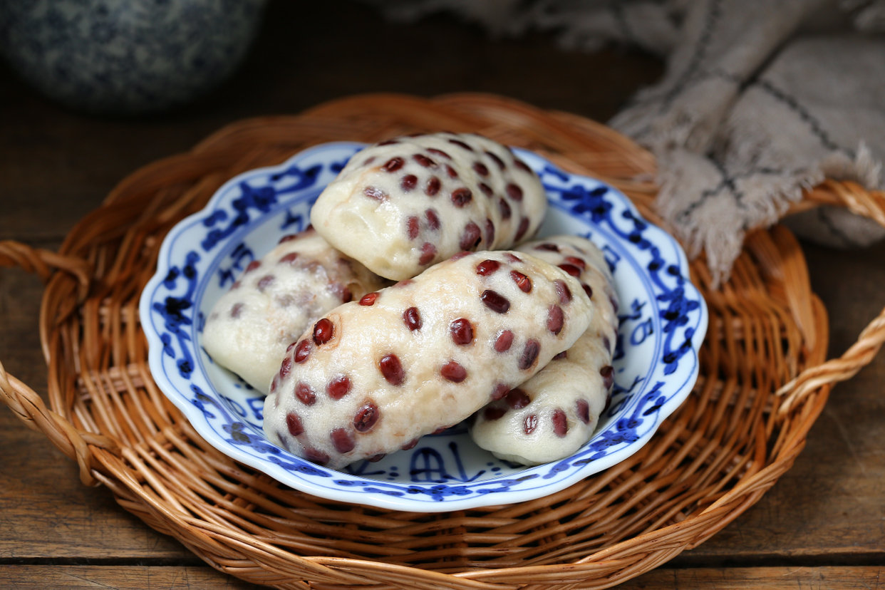 山药红豆卷的做法,松软香甜又养胃!