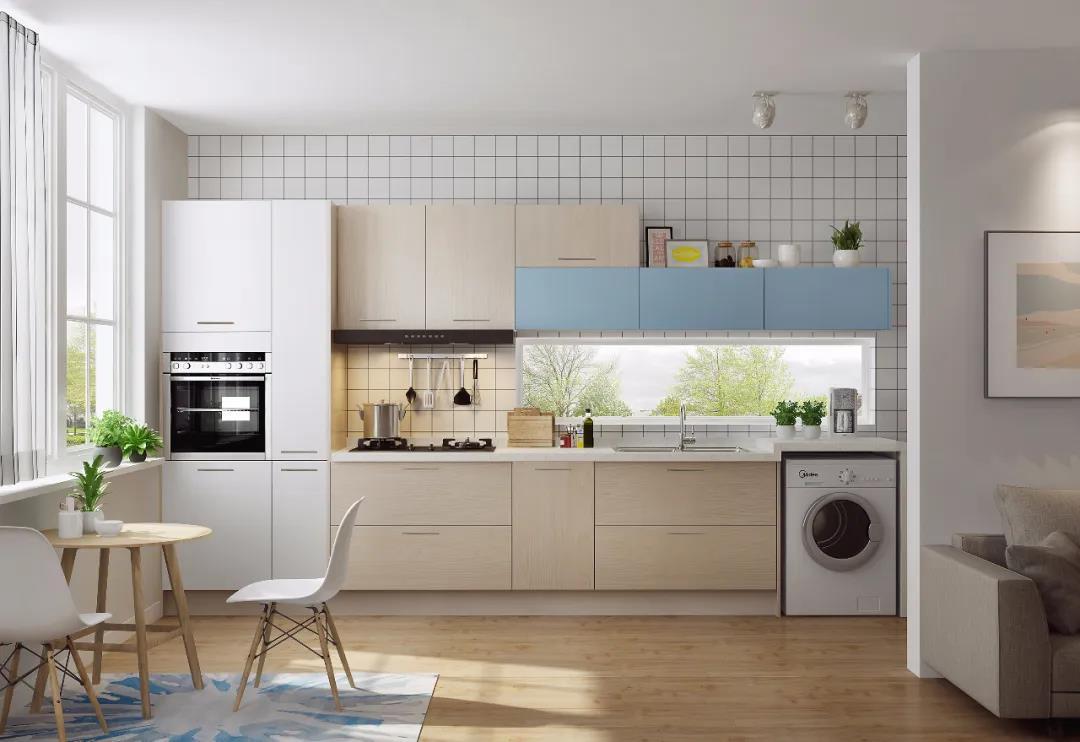 清爽的厨房收纳设计!让下厨更轻松!