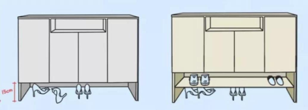 进门无玄关,鞋柜怎么放?这里给你解决方案!