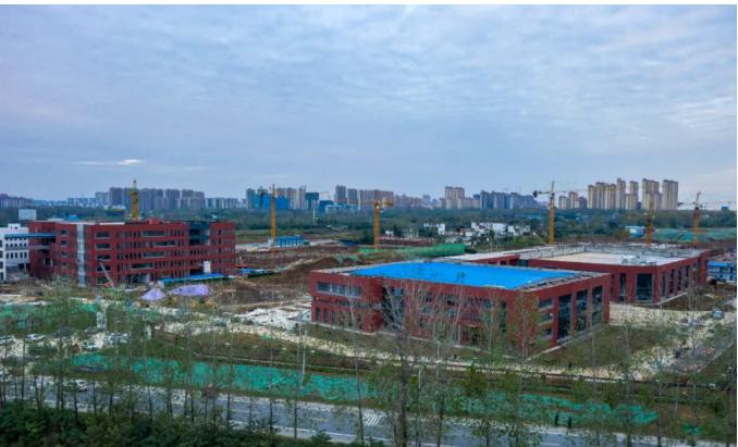 固始这所在建的大型学校最新现场
